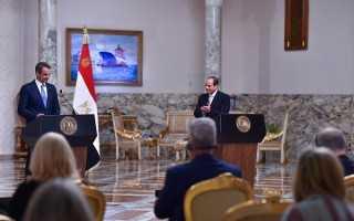 بالفيديو.. مباحثات مصرية يونانية بالاتحادية.. ومؤتمر صحفي بين السيسي وميتسوتاكيس