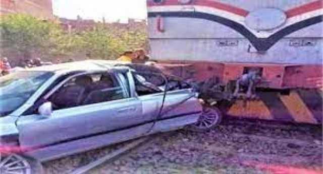 عاجل... اصطدام قطار بسيارة ملاكي ووفاة 3 أشخاص