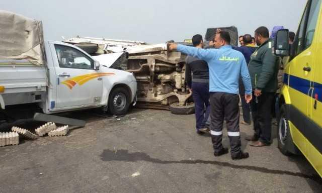 مصرع شخص وإصابة ٣ آخرين في حادث بطريق الأربعين