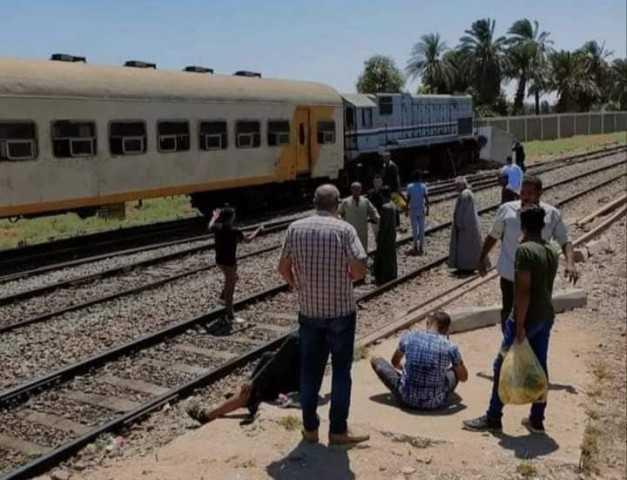 أول صورة لموقع حادث قطار قنا