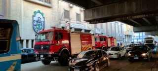 إخماد حريق في مقر اتحاد عمال مصر برمسيس