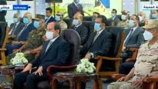 الرئيس  السيسي : الدولة تتحمل تكلفة عالية من اجل استصلاح المزيد من الاراضي الزراعية