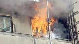تفحم شقة بالكامل في حريق بالخليفة